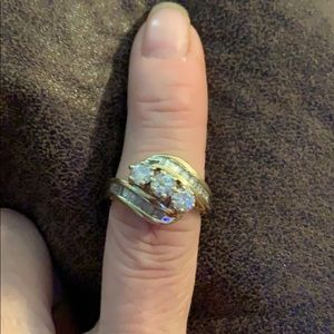 14k and real diamond ring.